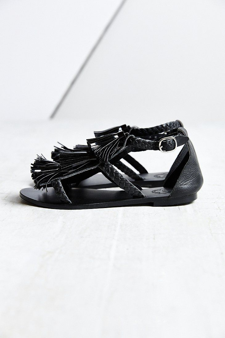 Ecote Braided Tassel Sandal - Urban Outfitters #UrbanOutfitters