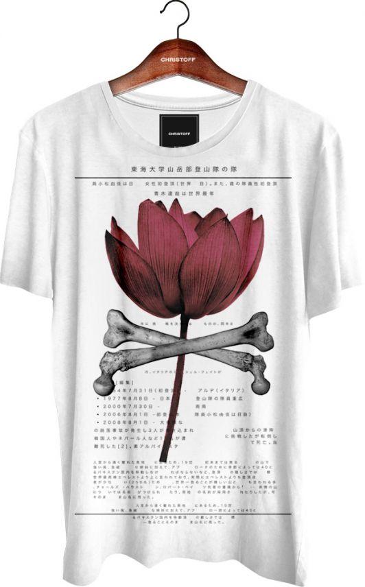 Camiseta Gola Básica - Rose 100% algodão. Cor Branca.  b39cc0c23ac