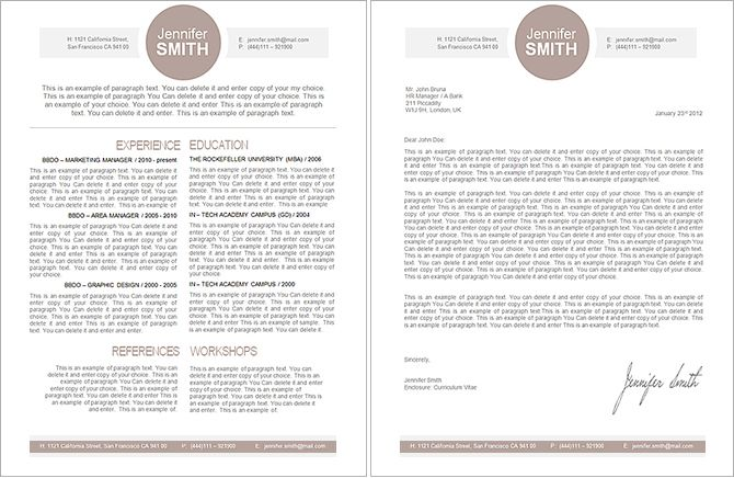 Elegant Resume Template -110010 - Premium line of Resume  Cover - apple pages resume templates