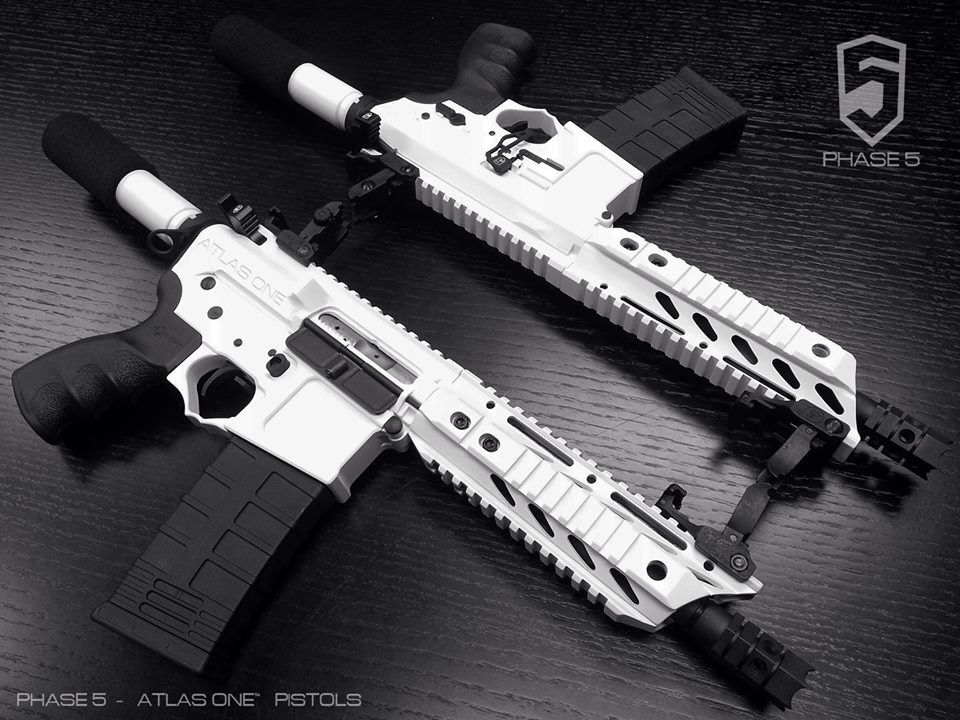 phase5 atlas one ar pistol in snow white loud or sharp things