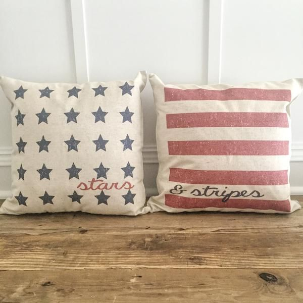 Stars & Stripes Pillow Covers (Set of 2)