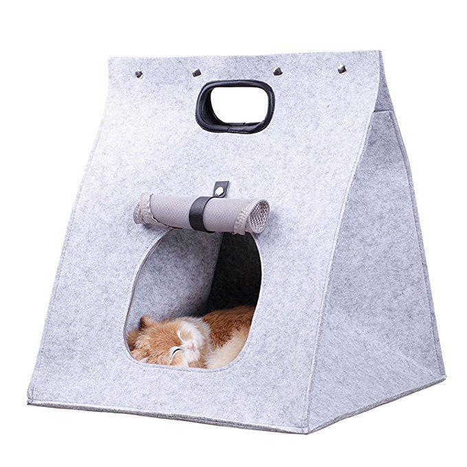 Mdurian Zusammenfaltbar Filz Hundebett Haustiertragetasche
