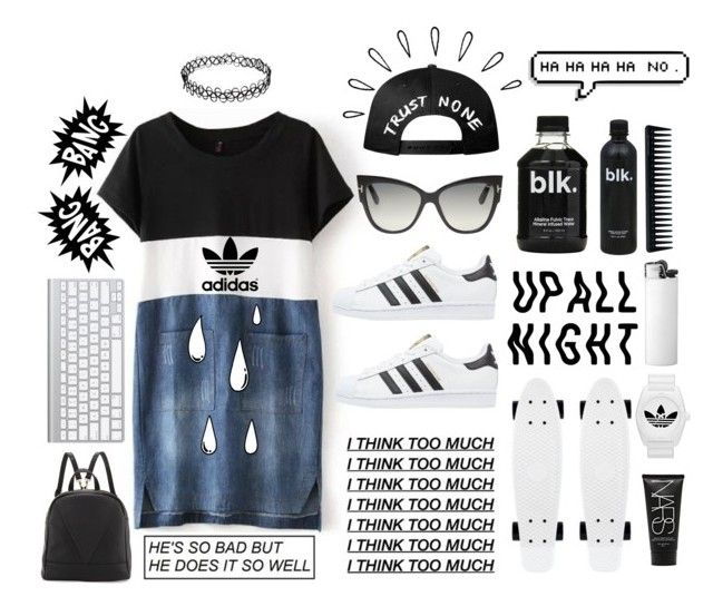 """""""SUNNY DAYS"""" by madi-quartermaine ❤ liked on Polyvore featuring Tom Ford, adidas Originals, Poverty Flats, adidas, Old Navy, GHD and NARS Cosmetics"""