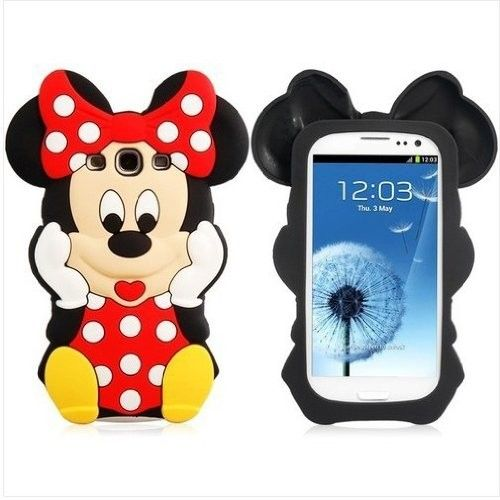 Black/Red Cartoon Mouse Soft Silicone Case Cover for Samsung Galaxy S3 i9300