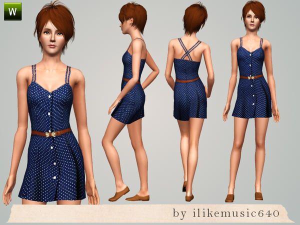 ILikeMusic640's Polka Dot Skater Dress AF