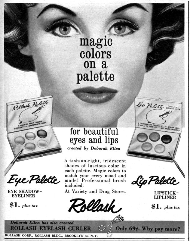 rollash makeup ad from september 1960 seventeen magazine