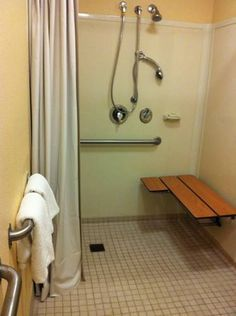 perfect handicapped shower area, positioning of bars