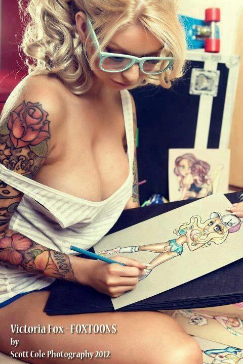 Victoria Fox Tattoo Model