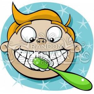 cartoon boy brushing teeth clip art httpwww