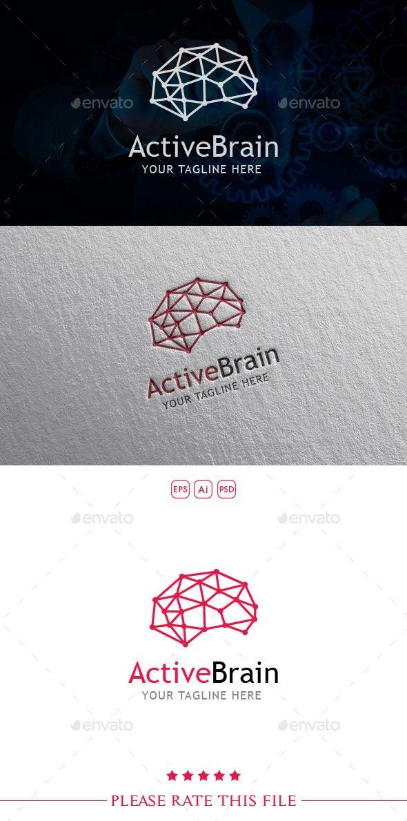 Brain Logo Photoshop Psd Digital Agency Available Here