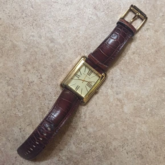 MK watch Used MK leather strap Watch. The picture capture really good detail on the watches condition. Michael Kors Accessories Watches