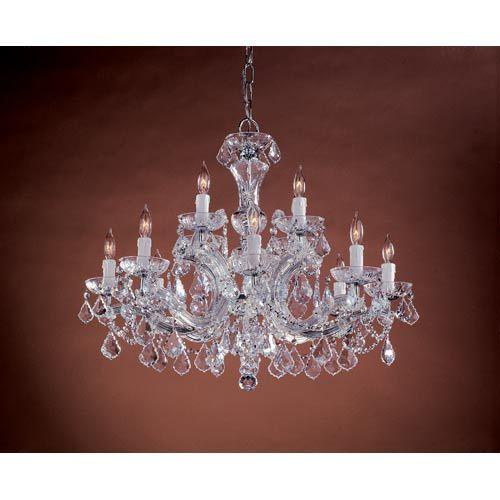 crystorama lighting group maria theresa polished chrome eight light