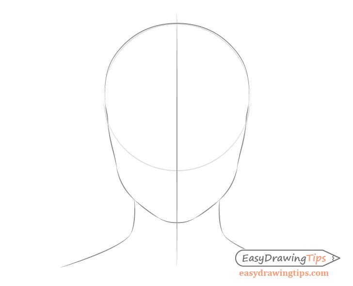 Female Head Shape Drawing Drawing Tutorial Face Female Face Drawing Drawing Face Shapes