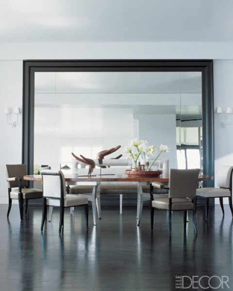 8 Mirrors Worth A Second Look Mirror Dining Room Dining Room Design Modern Dining Room
