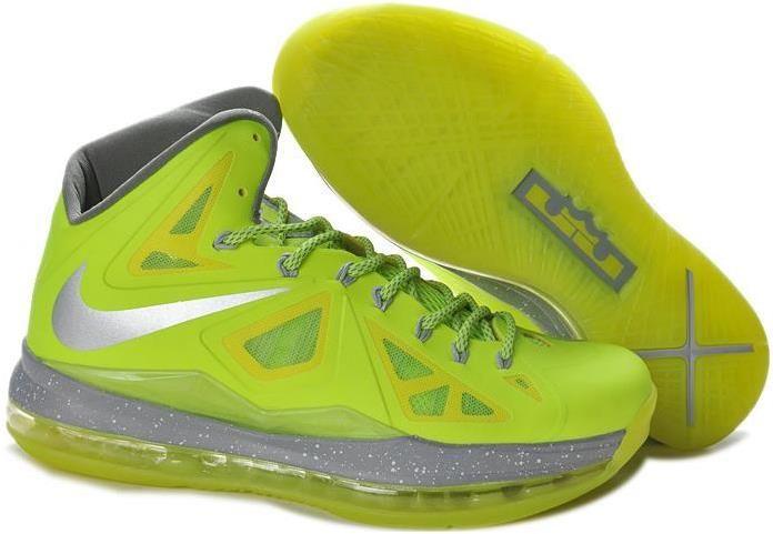 Lebron 10 X Green Grey Yellow | Tenis