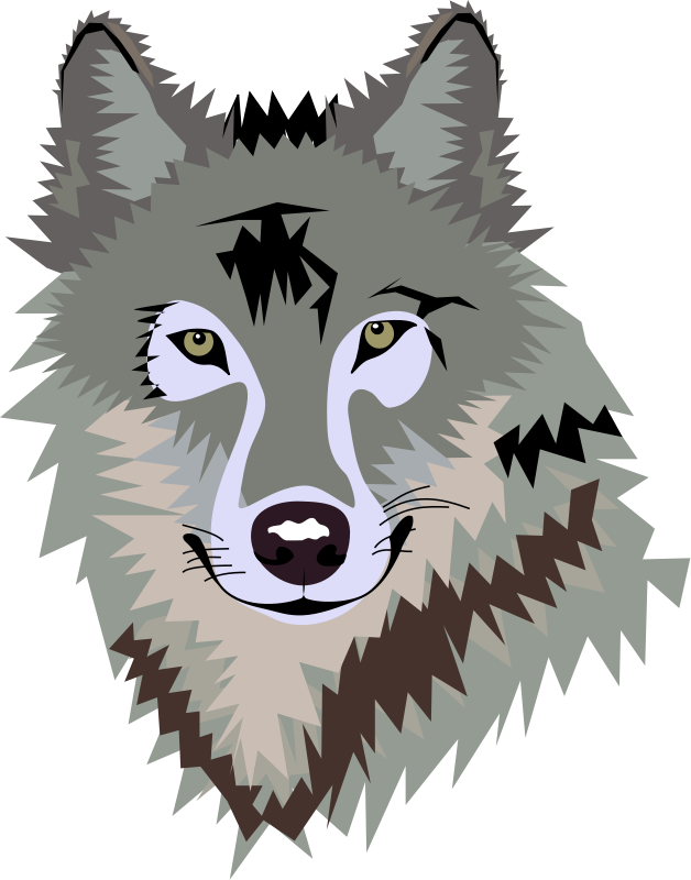 wolf face clipart 1 varios pinterest wolf face clip art free rh pinterest com red wolves clipart two wolves clipart