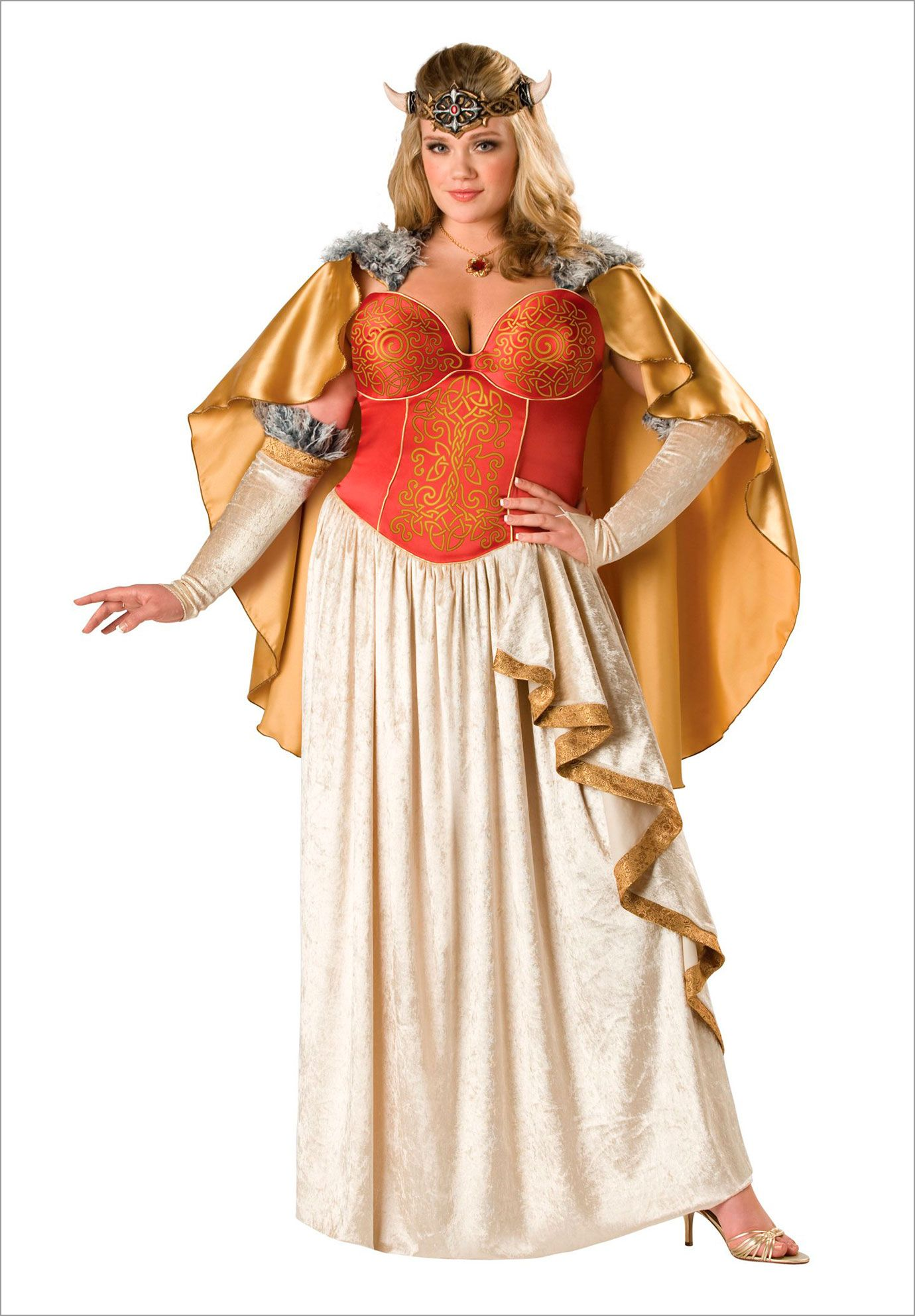 91a0d929b98  137 Plus Size Viking Princess Plus Size Adult Halloween Costume ...