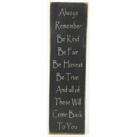 "Messenger Sign ""Always Remember"" Country Rustic Primitive Black $21.99"