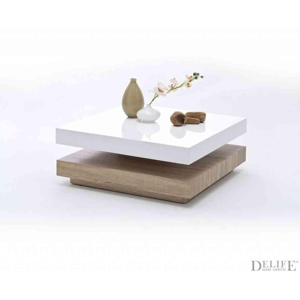 Couchtisch eiche weiß glas  DeLife: Couchtisch Quadro 75x75 Weiss Hochgl. Eiche Sonoma Tisch ...