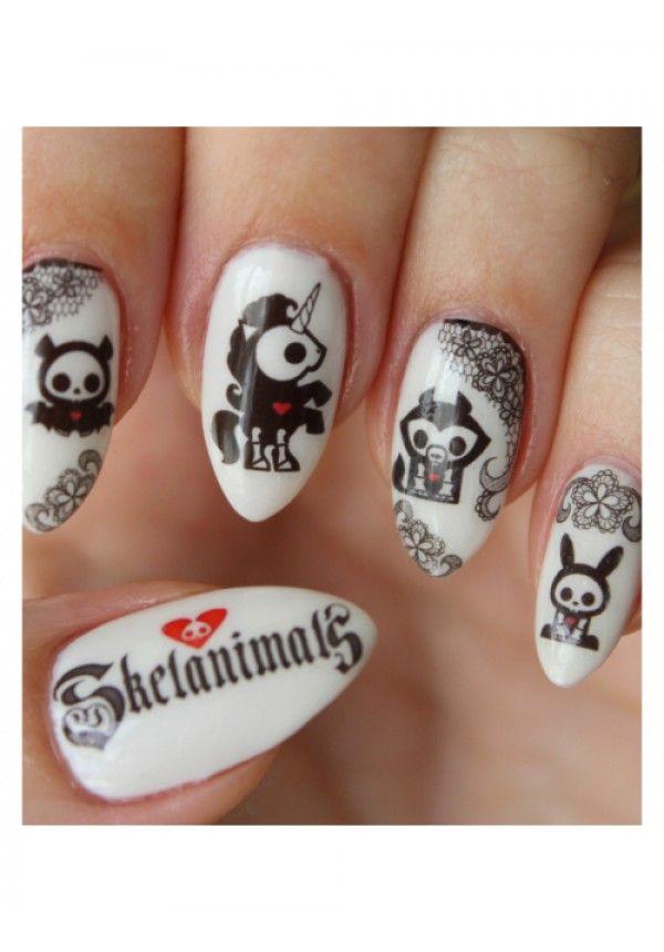 Skelanimals Nail Decals | Nail decals and Nail pops