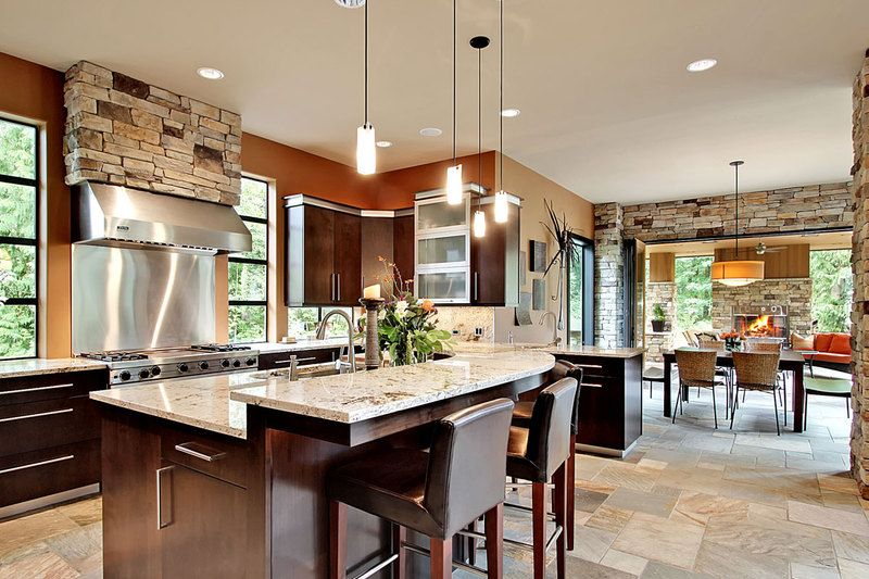 Modern Style House Plan   4 Beds 4.5 Baths 4750 Sq/Ft Plan #132