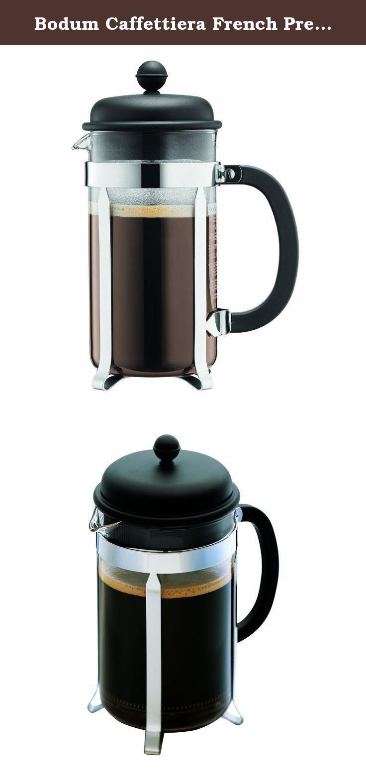 Bodum Caffettiera French Press Coffee Maker, Black Plastic