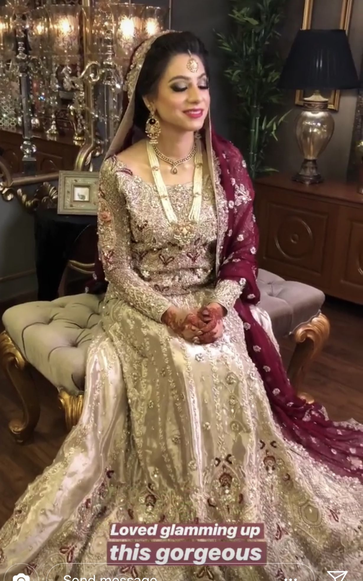 1f66fe0ae95 Pin by Syedaghania Fatima on Pakistani Valima bride dress inspo in ...