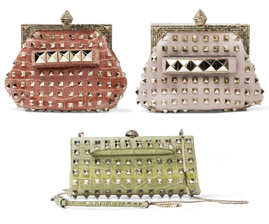 Valentino Studded Evening Bags - fancy punk