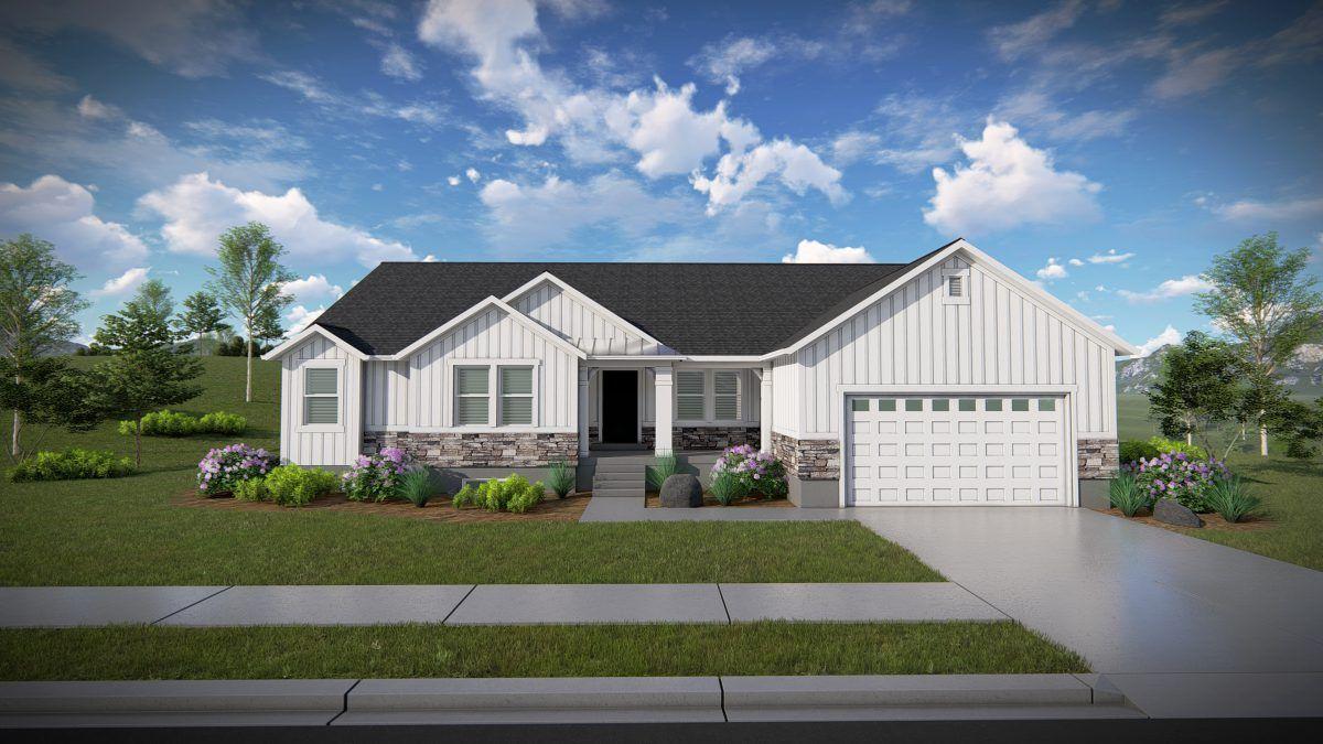Katrina Rambler House Plan Utah Home Edge Homes Rambler House House Plans Farmhouse Rambler House Plans
