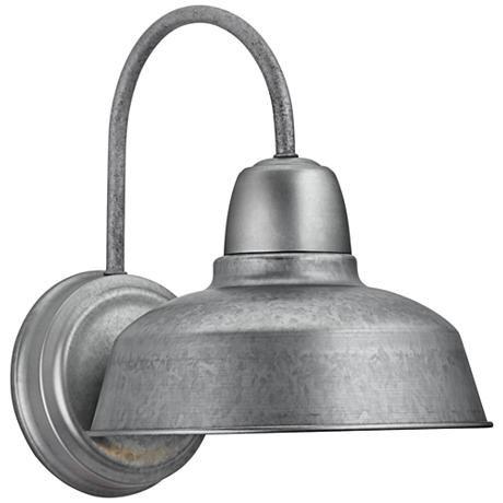 Urban Barn 13 High Galvanized Steel Outdoor Wall Light 4m534 Lamps Plus Outdoor Walls Outdoor Wall Light Fixtures Barn Lighting