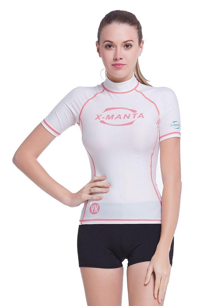 Women-Short-Sleeve-Rashguard-Surf-Rash-Guard-Tops-Swimming-Shirts-UPF-50 9321065bd