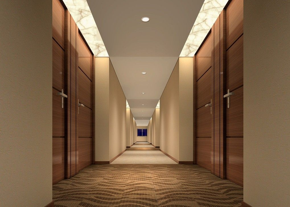 Hotel design fashion contracted corridor chain business for Interior passage doors