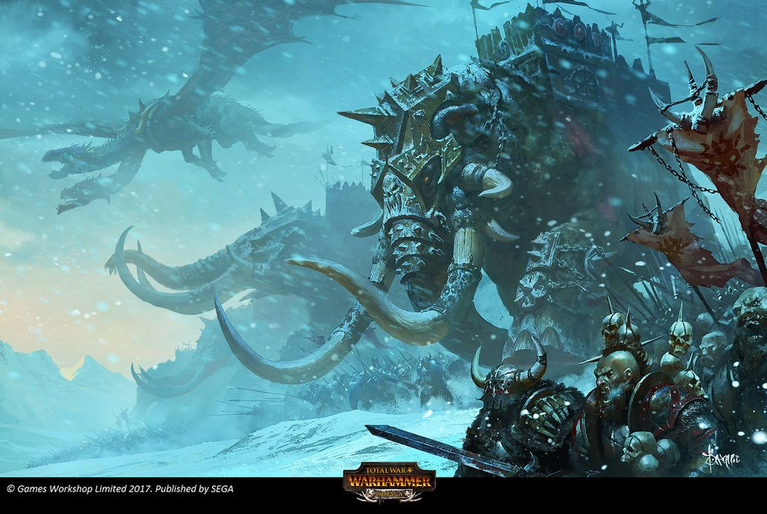 A Loading Screen Illustration Work For Total War Warhammer The