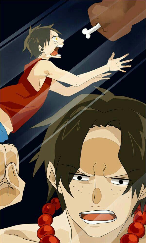 Ace Luffy Brothers Funny Glass Mirror Screensaver Meat One Piece Fond D Ecran Telephone Manga Fond D Ecran Anime Theme Manga