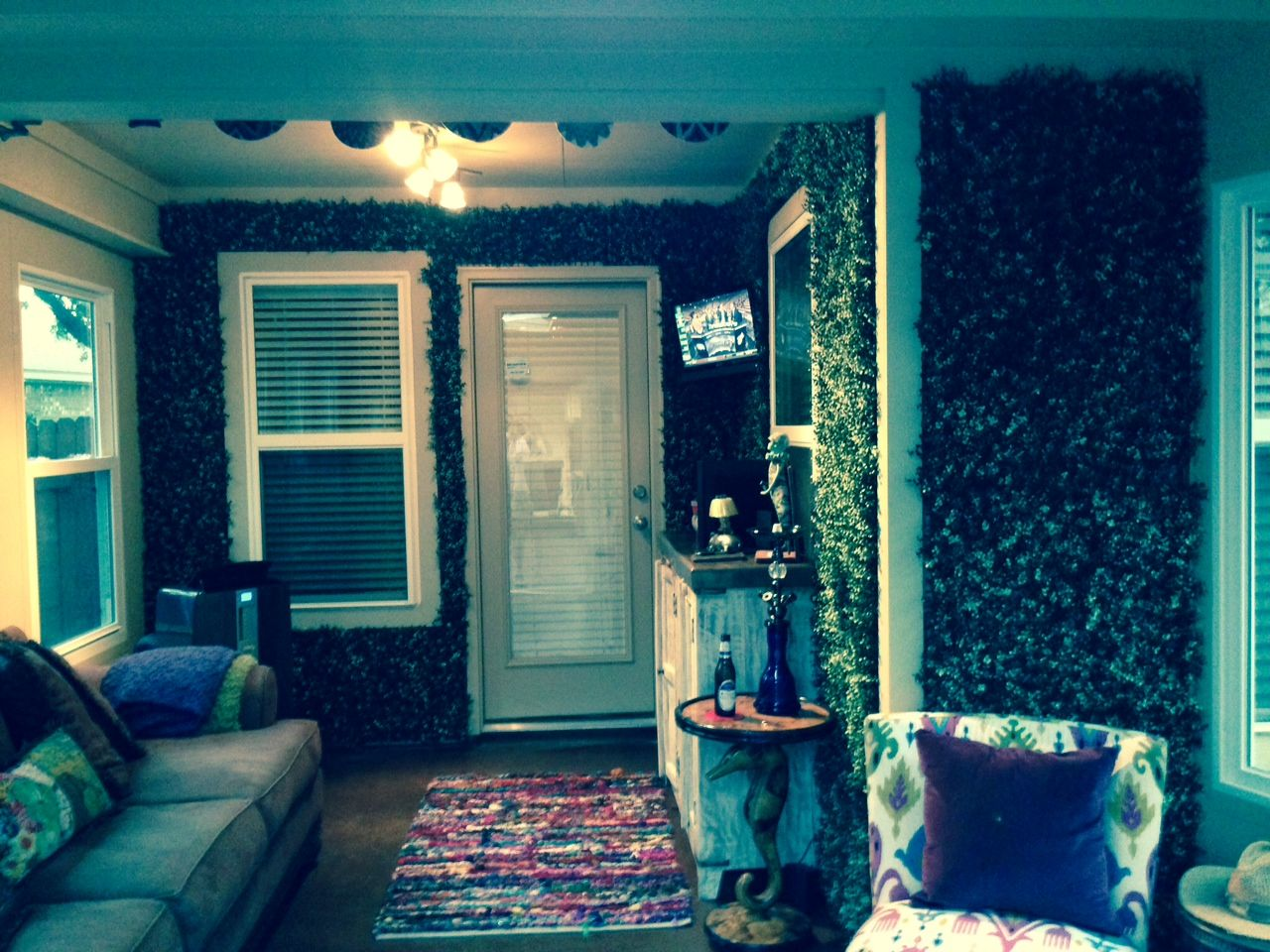 Artificial Hedge Panels from GreenSmart Decor for indoor/outdoor use ...