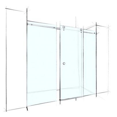 Wet Design Custom Frameless Sliding Wall-To-Wall