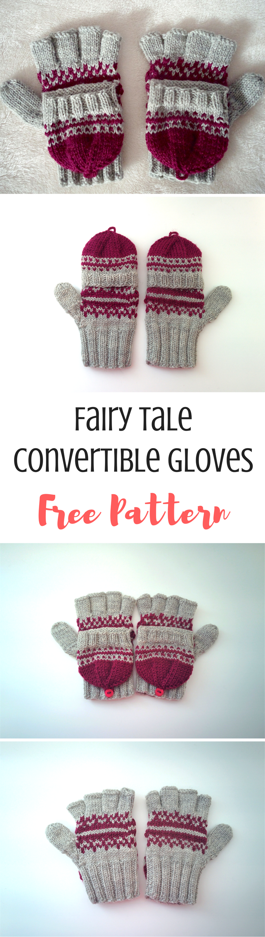 Fairy Tale: Free Convertible Gloves Knitting Pattern | knitting ...