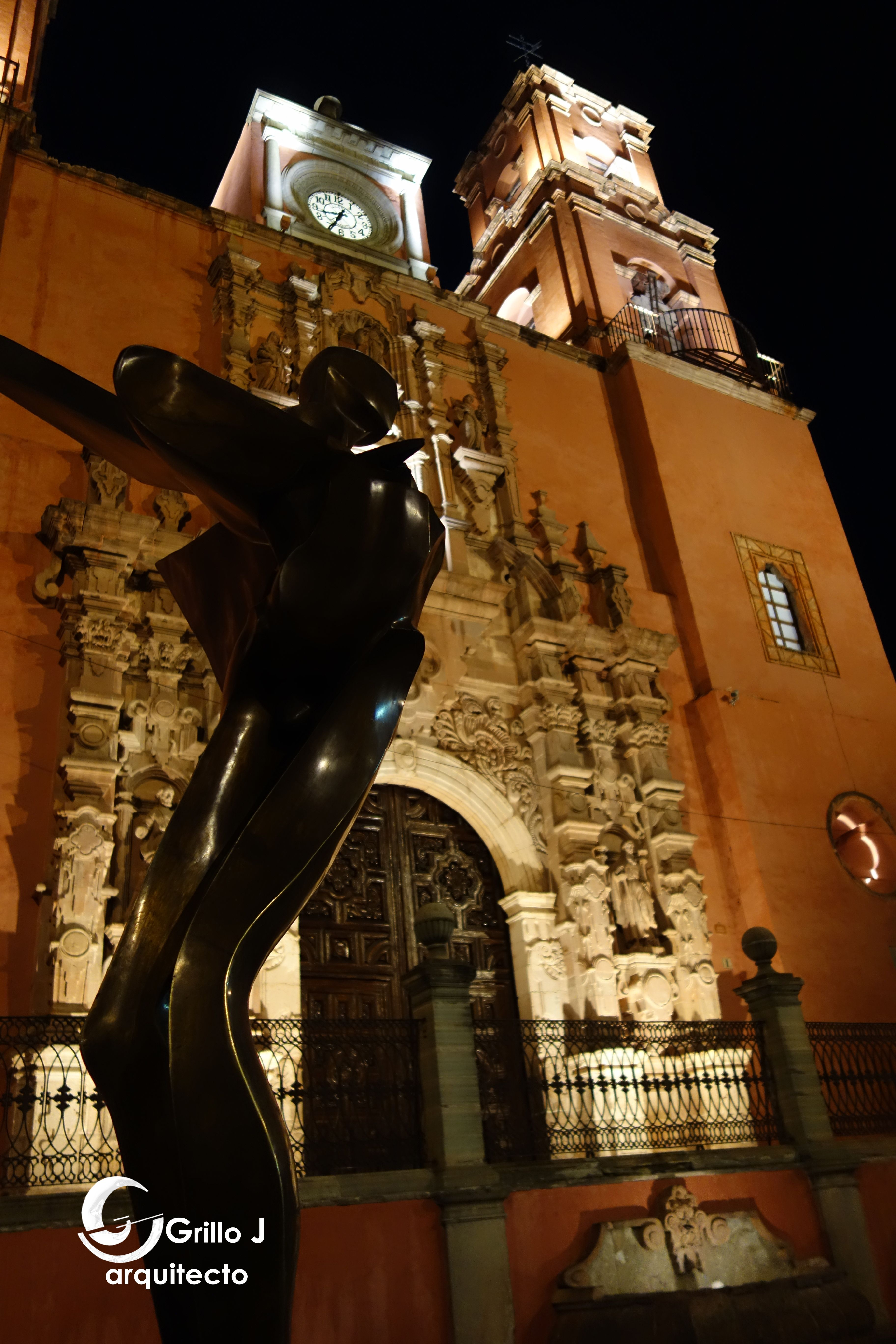 Iglesia y Ex-Convento de San Francisco. Guanajuato.