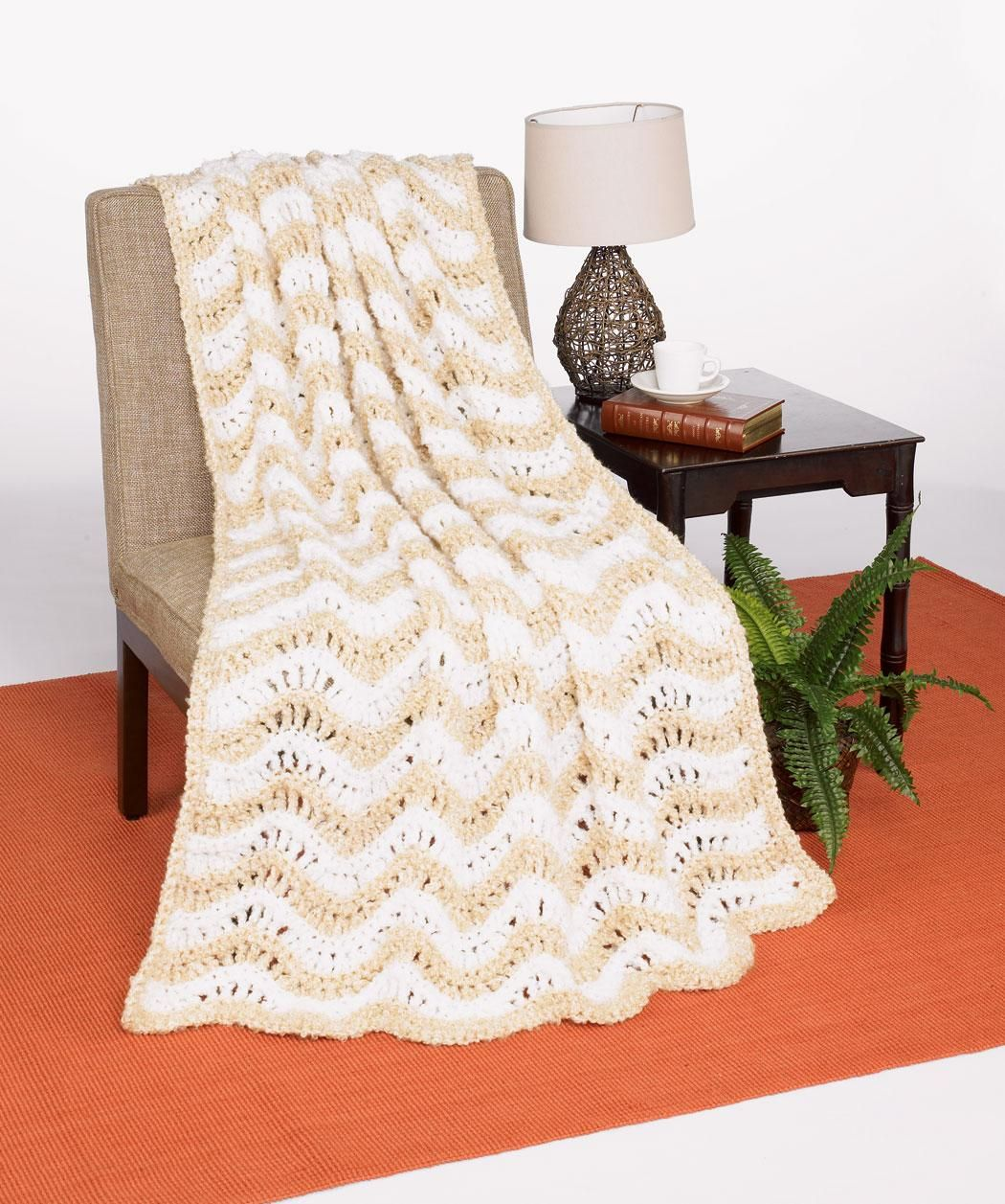 Crochet Crested Wave Afghan Free Pattern from Red Heart Yarns ...