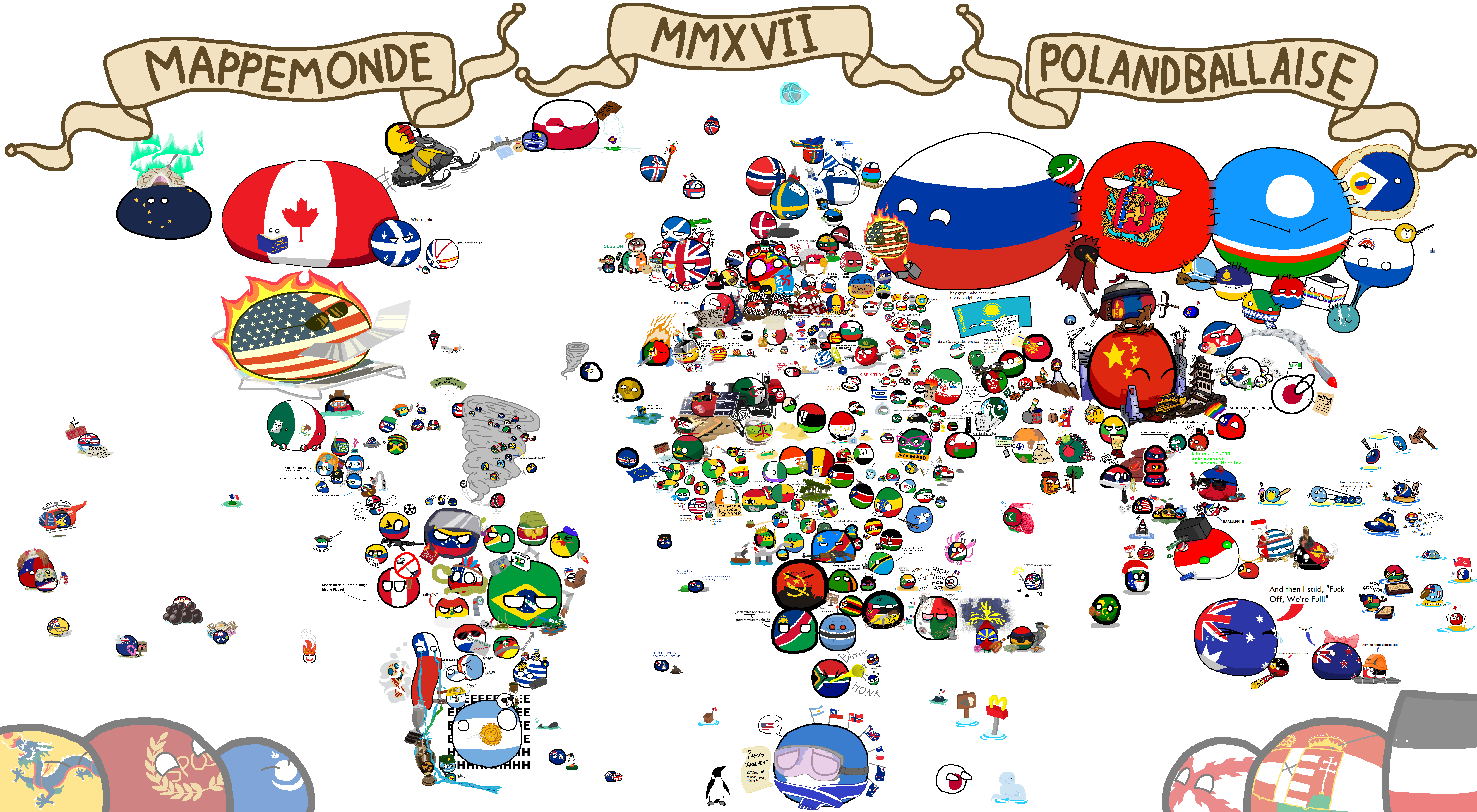 Official Polandball World Map 2017   Mapa mundi, Mapa