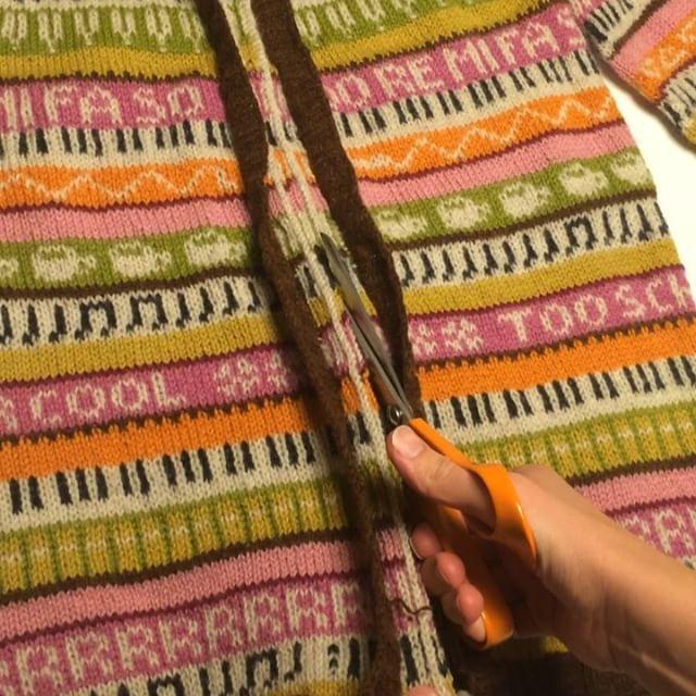 Från tröja till kofta ✂️✌🏽️#musiklärarkoftan