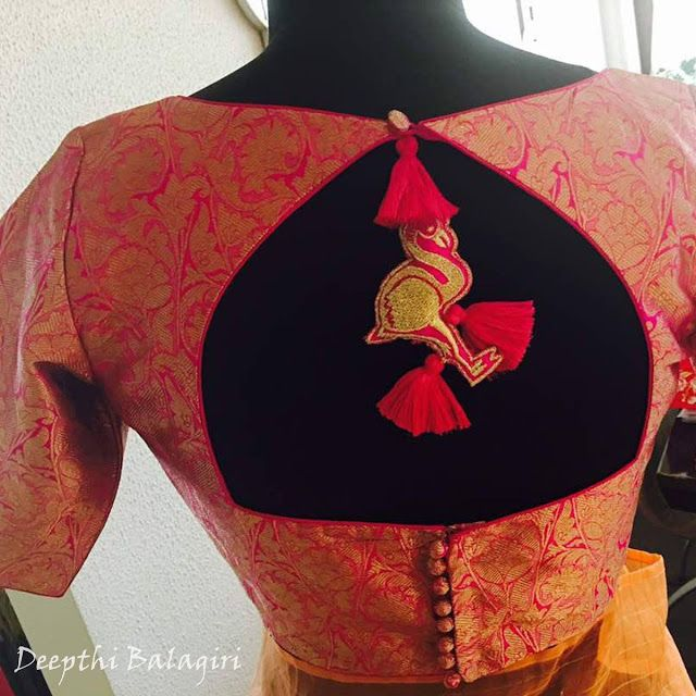 41 Latest pattu saree blouse designs to try in 2019 || Blouse patterns for silk sarees | Bling Spar