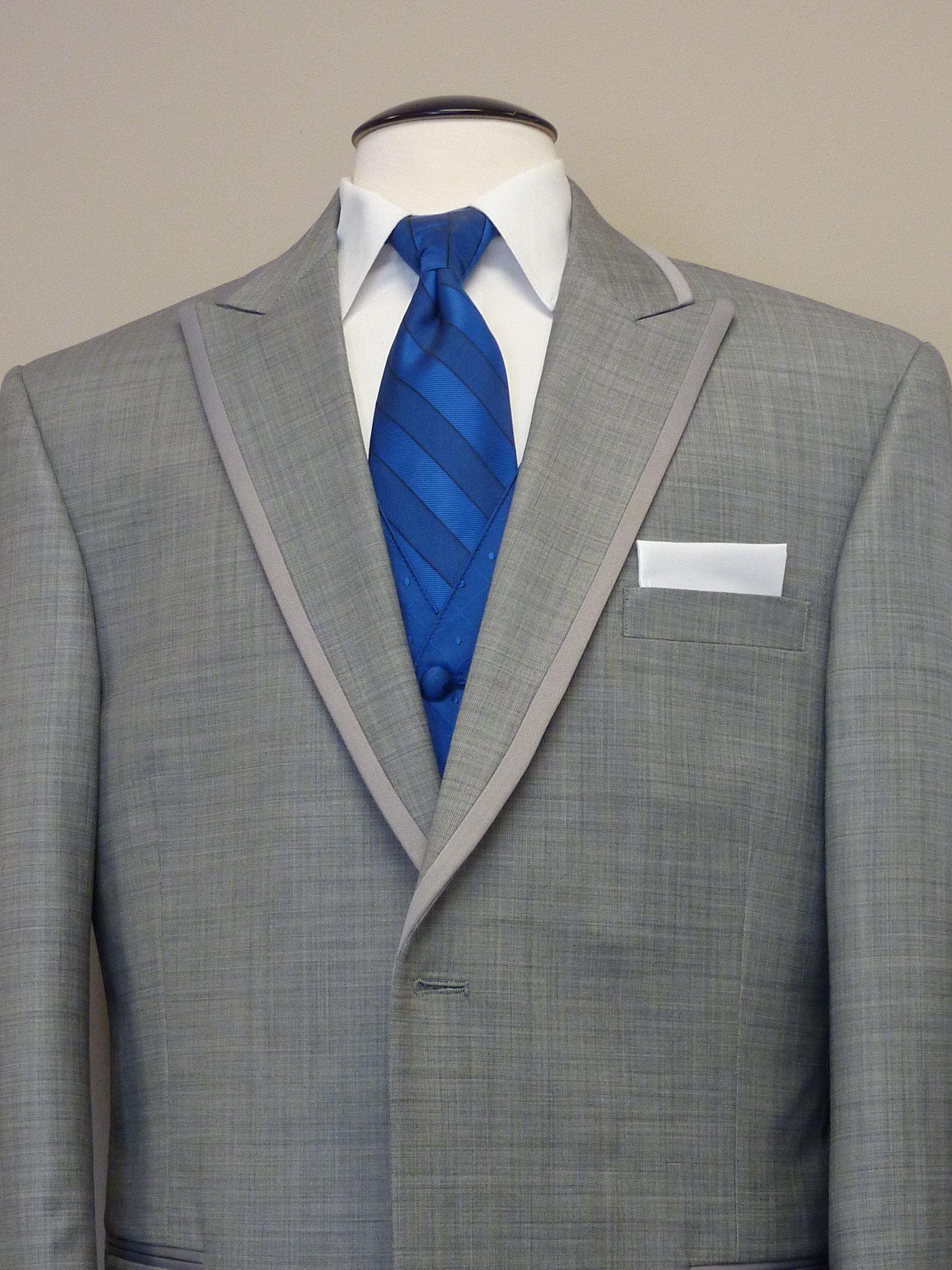 Groomsmen Grey Tux White Shirt Royal Blue Tie And Vest My Summer Wedding Blue Groomsmen