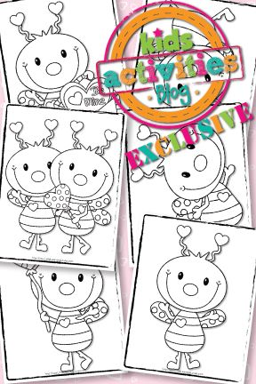 EXCLUSIVE} LOVE BUG COLORING PAGES – FREE! | Kids activities/craft ...