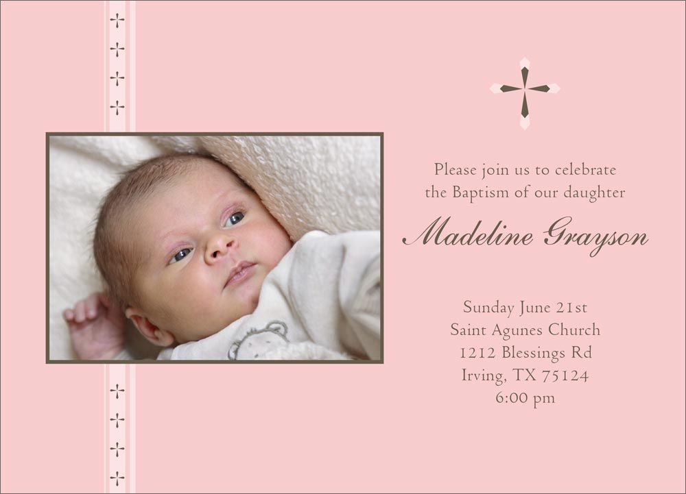 Religious Invitations Appealing Baptism And Christening – Invitation Card Baptism Design
