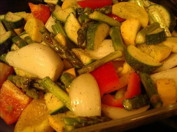 Oven Roasted Vegetables (South Beach) #southbeachdietphase1