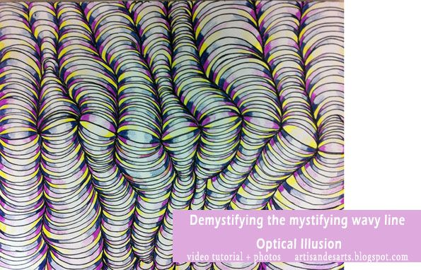 Line Art Grade : Optical illusion how to video! made with one of my grade 6 students