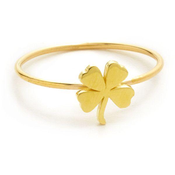 Jennifer Meyer 18k Gold Mini Clover Ring Tk1ukuODe