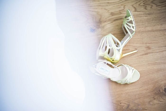 Gelbe #Jimmy Choos #Hochzeit #Brautschuhe #Wedding