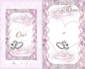 Carte Menu Mariage A Imprimer Gratuite Carterie Cartes Gratuites
